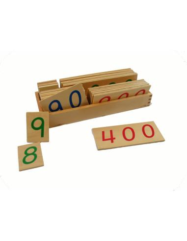 Drewniane karty z liczbami, 1-9000, duże