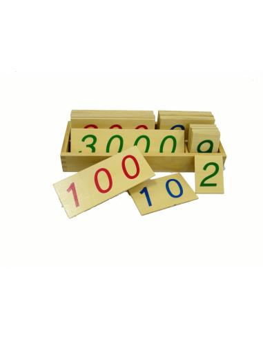 Duże drewniane karty z liczbami, 1-3000, duże