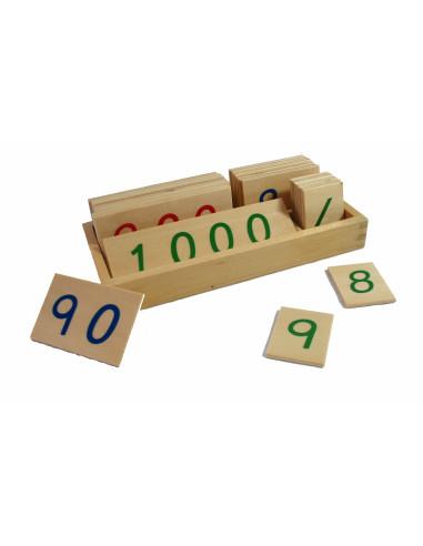 Małe drewniane karty z liczbami, 1-3000, małe
