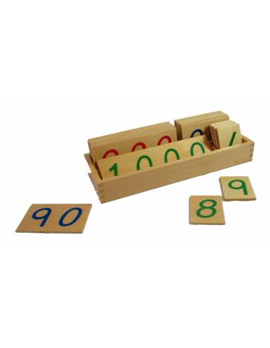 Duże drewniane karty z liczbami, 1-1000, duże