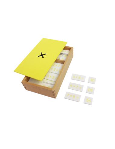 Pudełko z zadaniami na mnożenie