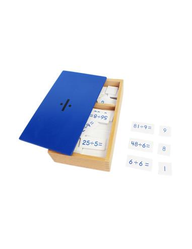 Pudełko z zadaniami na dzielenie