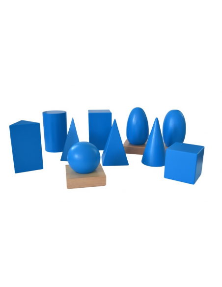 Bryły geometrycznez pudełkiem