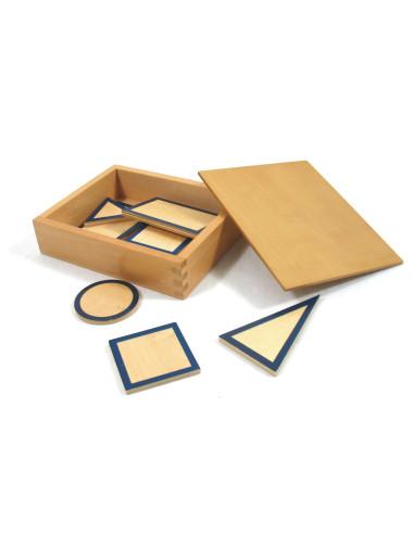 Przekroje figur geometrycznych z pudełkiem