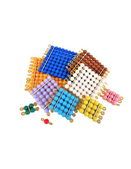 Kolorowe kwadranty z koralików