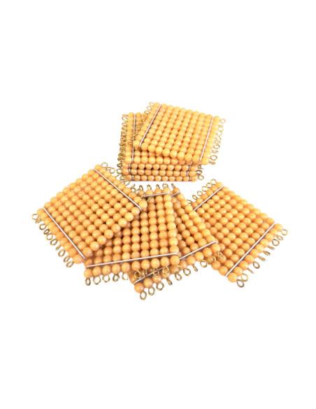 9 sztuk kwadratów (100 złotych koralików)