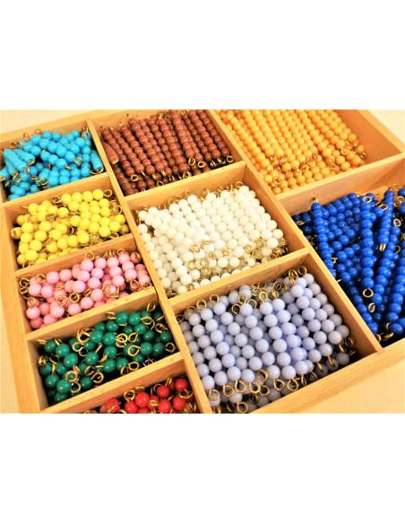 pudełko dekonomiczne z koralikami do mnożenia - kolorowe schody (1-10)