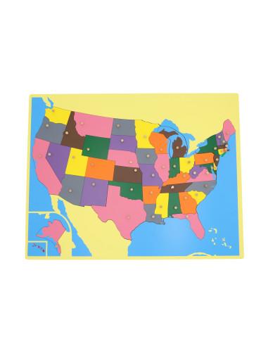 Puzzlowa mapa USA