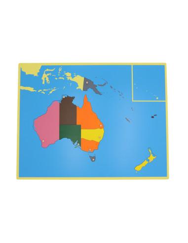 Puzzlowa mapa Australii