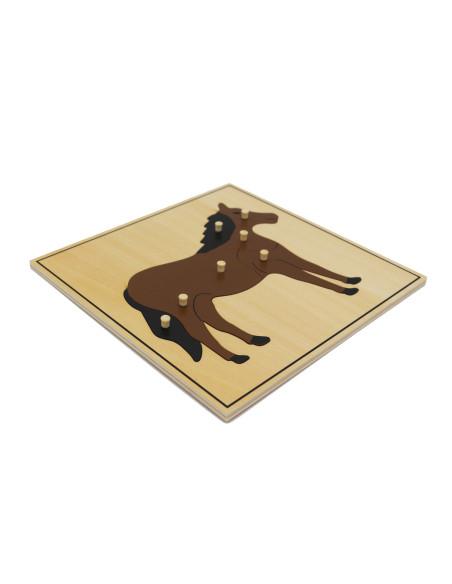 Puzzle ze zwierzętami - koń