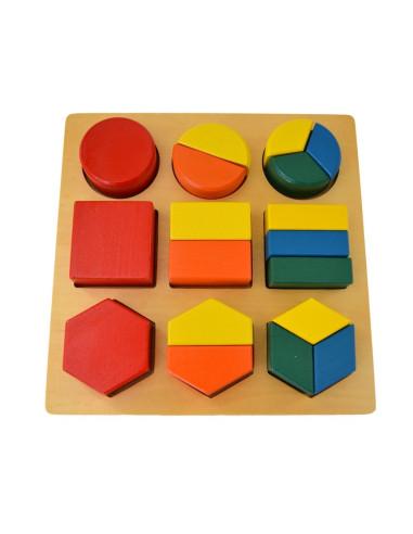 Puzzle geometryczne - dzielenie