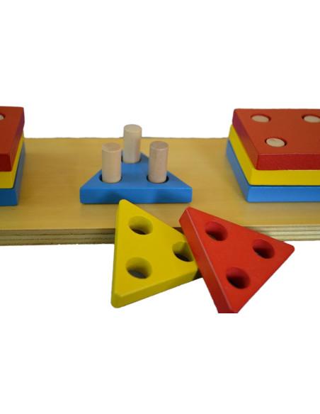 Kolorowe geometryczne kształty - sortowanie