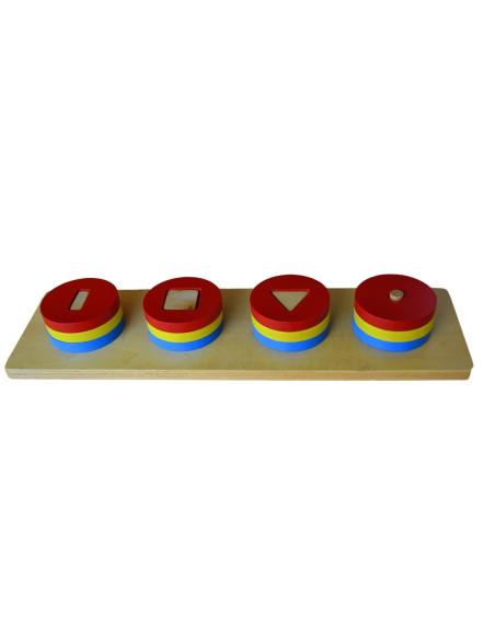 Kolorowe kręgi z różnymi figurami wewnątrz