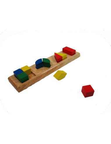 Kolorowa układanka - dzieleni figur