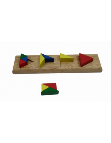 Kolorowe trójkąty - dzielenie
