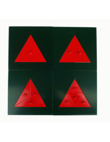 Metalowe trójkąty