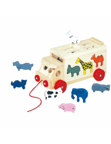 Składana ciężarówka ze zwierzętami