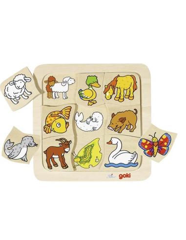 Puzzle Zwierzęta Duże I Małe