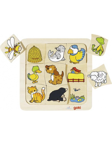 Puzzle Gdzie Mieszkają Zwierzątka