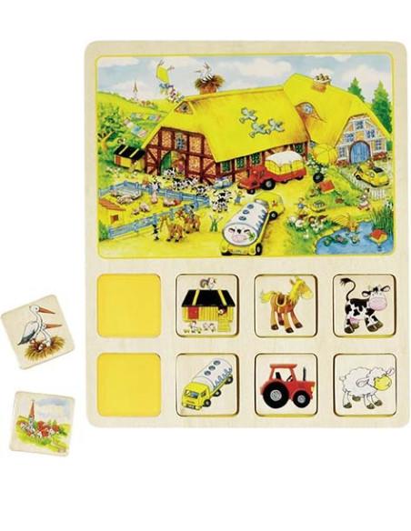 Gra edukacyjna - różne motywy (farma, cyrk ...)