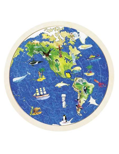Puzzle dwustronne - Mapa świata